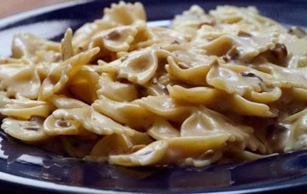 Pasta funghi e Brie