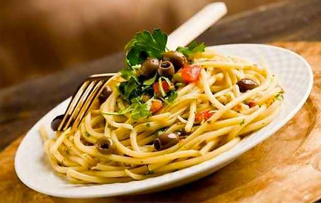 Spaghetti con le olive