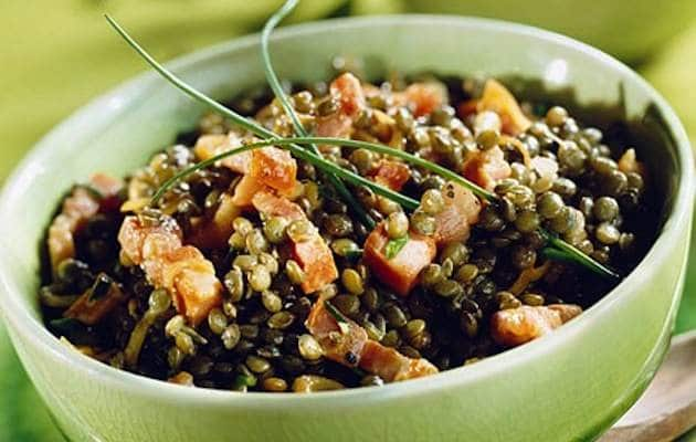 Lenticchie e pancetta