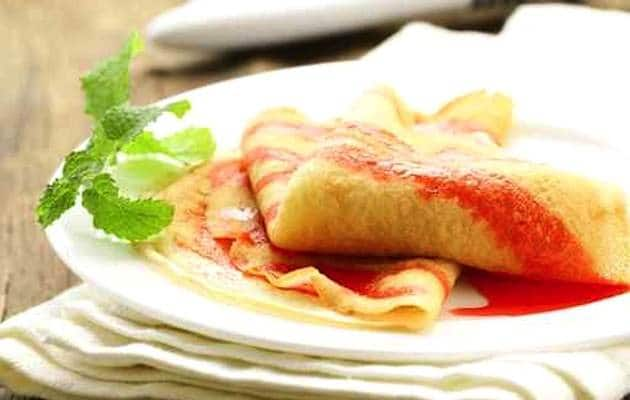 Crepes salsa fragole