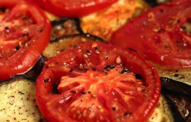 melanzane pomodori al forno